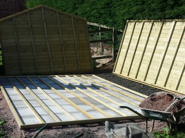 Large Timber Garden Shed (being assembled)