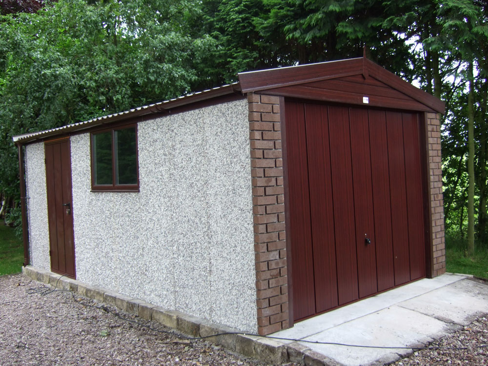 Woodthorpe Wooden Door Garages Concrete Garages
