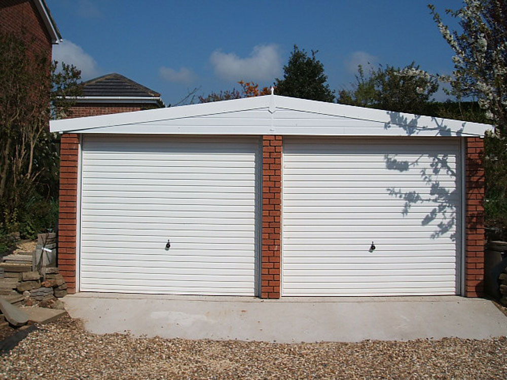 Double apex garages range birmingham west midlands for Construction garage double