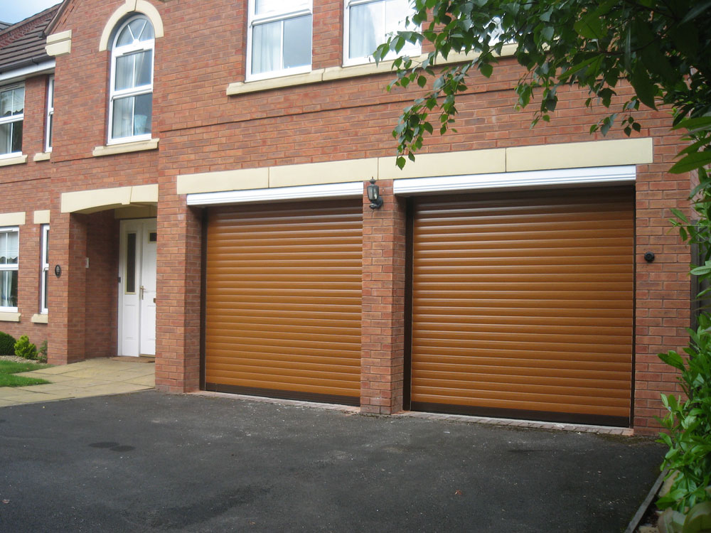 Roller shutter doors garage door range birmingham for Two door garage