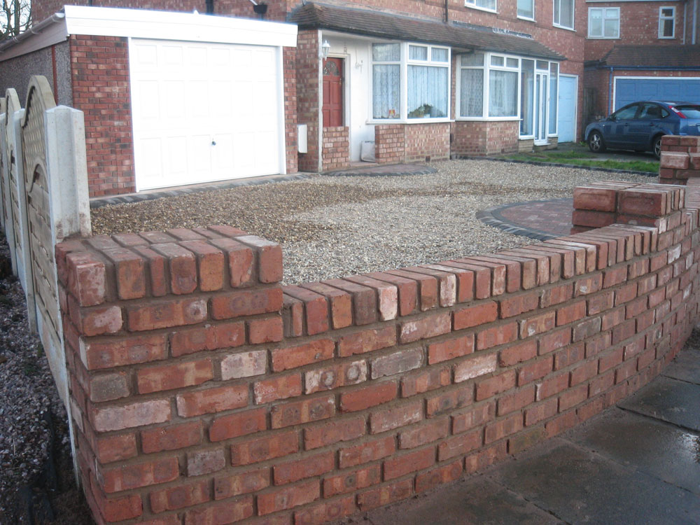 Landscaping services portfolio birmingham west midlands dave walker limited - Reclaimed brick design ideas ...