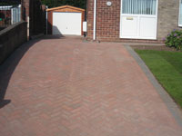 Block  paved drive with new garage & turf Stoke on Trent are