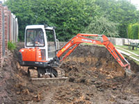 Removal of approx. 200 tons garden soil