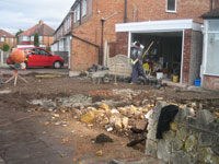 Site clearance ready for landscaping Solihull